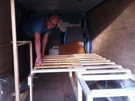 conversion van sofa bed diy cervan the inside so far emily may