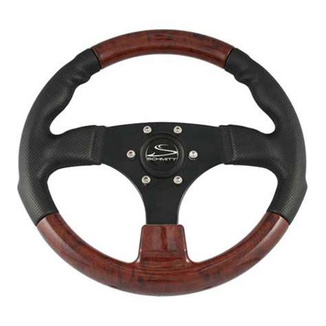 boat steering wheel maintenance schmitt marine steering steering wheel black w burlwood