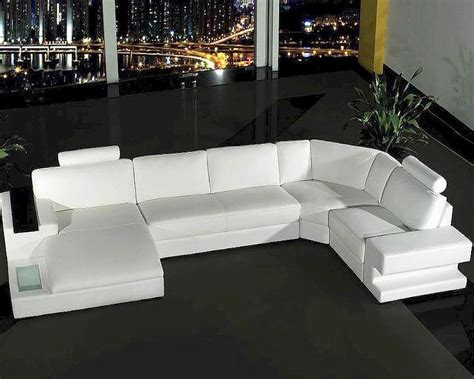 4 leather sofa set 4pc white leather sectional sofa set 44l0557