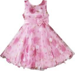 pink dress dress with pink flower print on lovekidszone lovekidszone