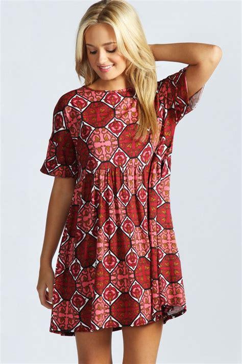 pattern dress boohoo details about boohoo womens ladies lulu oversized turn