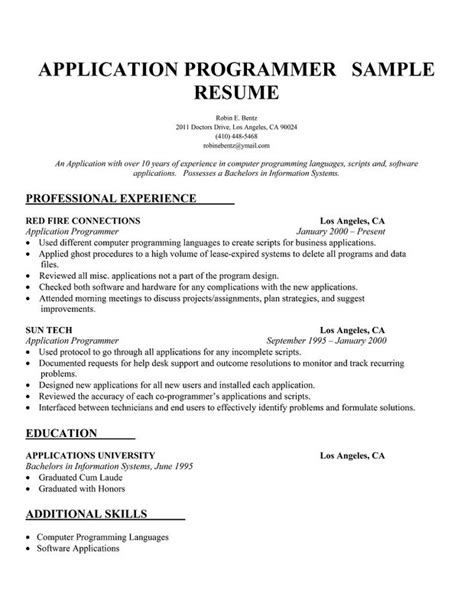 Computer Programming Resume Resume Ideas Computer Programmer Resume Template