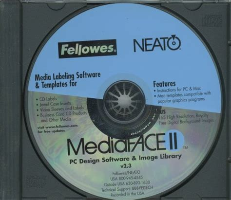 fellowes neato cd label template deal finder fellowneato mediaface templates