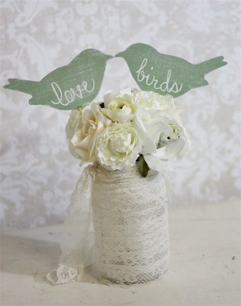 wedding cake topper love birds shabby chic wedding decor item p106031 2061708 weddbook