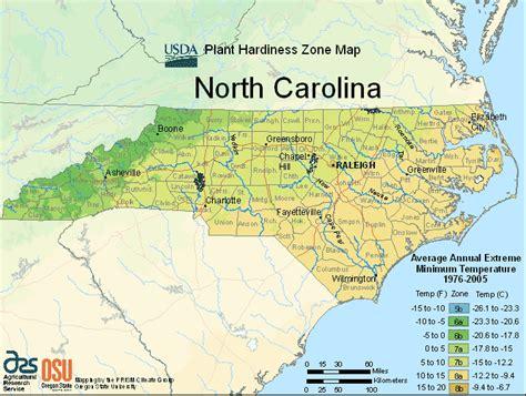gardening hardiness zones usda carolina planting zone map