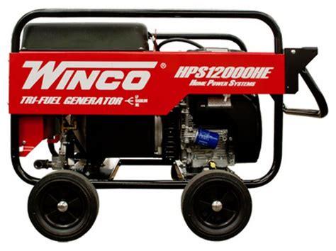 winco 12kw portable tri fuel generator hps12000he
