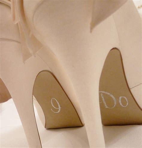 i do slippers personalised wedding shoe stickers by nutmeg