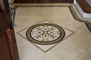 Mexican Tile Bathroom Designs foyer marble medallion
