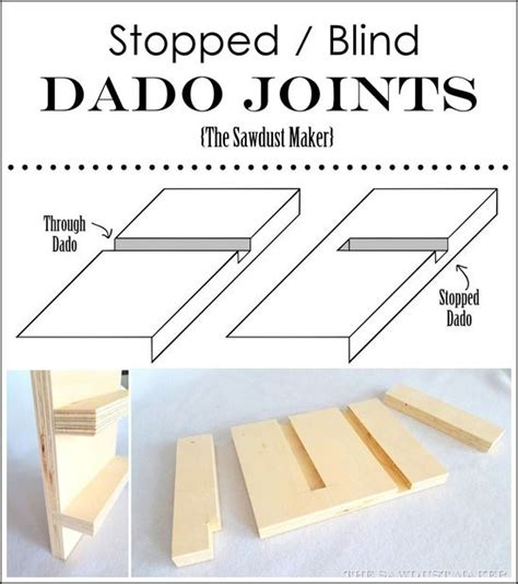 Blind Dado woodworking joints make it and how to make on