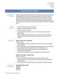 Resume Barista Barista Resume Samples Template And Tips