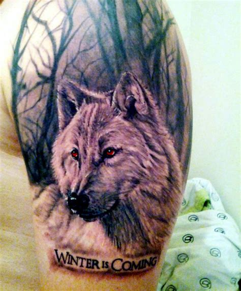 wolf tattoo history 10 outstanding game of thrones tattoos the most shocking