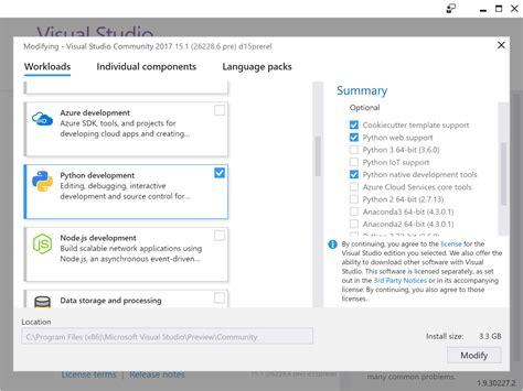 tutorial visual studio setup project python in vs community for mac developer community