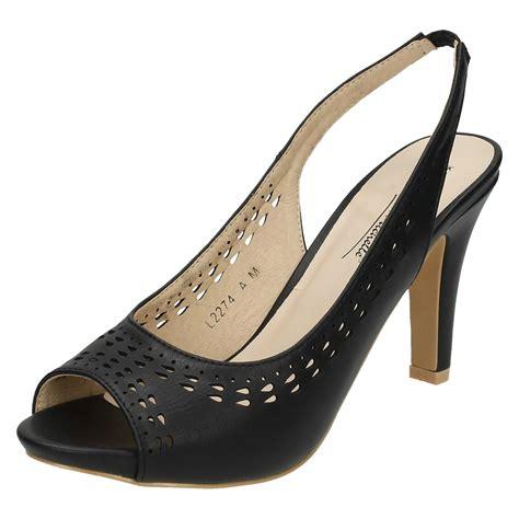 back shoes open toe sling back shoes l2274 ebay