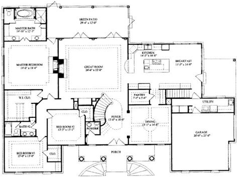 7 Bedroom House Floor Plans | 8 bedroom ranch house plans 7 bedroom house floor plans 7