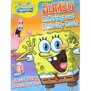 "Buy Spongebob Jumbo Colouring & Activity Book ""Absorbing"