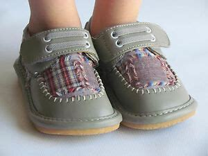 toddler shoes squeaky shoes boys gray w plaid dress shoes up to size 7 ebay