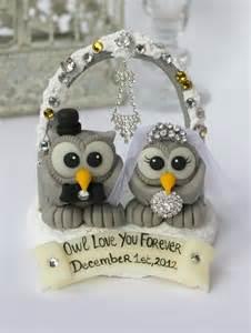 owl wedding cake topper owl bling cake topper bird wedding cake by perlillapets