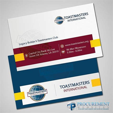 Toastmasters Business Card Template by Toastmasters Business Cards Images Business Card