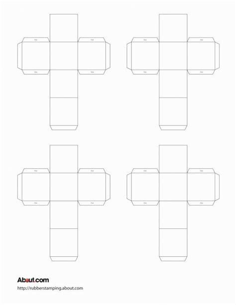 Use This Cube Box To Make Gift Boxes Favors Decorations And More Box Templates Rubber Copyable Resume Templates