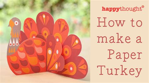 How To Make A Paper Turkey For - how to make a paper turkey printable