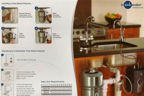 cuisine ni輟ise installing and operating insinkerator food waste disposer