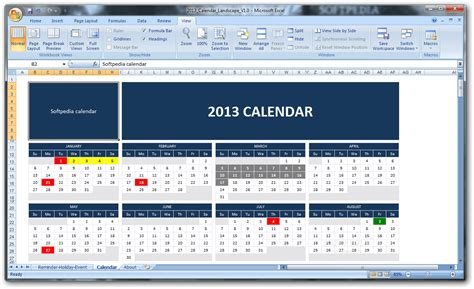 office 2013 calendar template 2013 calendar softpedia