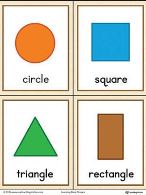 free printable shapes and colors flashcards common worksheets 187 circle square triangle rectangle