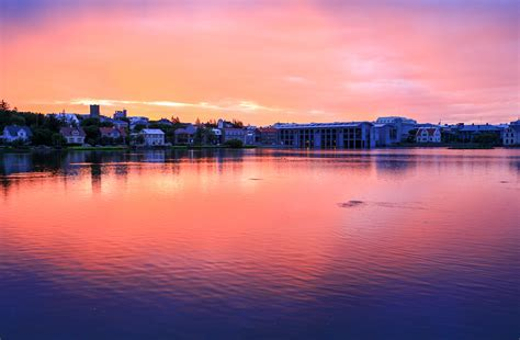 sunset reykjavik sunset reykjavik reykjavik summer sunsets