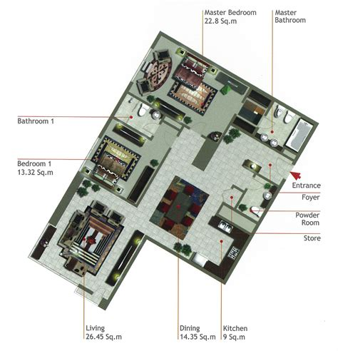 marina square floor plan 2 bedroom type d rak tower al reem island