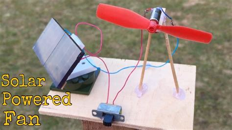 how to make a solar fan how to make a mini solar powered fan at home youtube