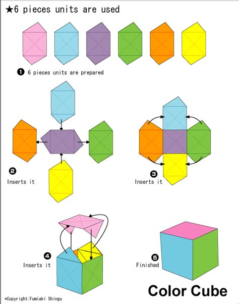 easy origami cube origami color cube