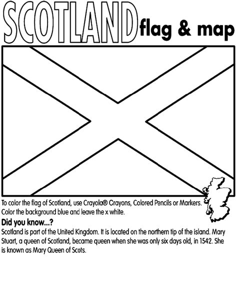 Scotland Coloring Pages scotland crayola co uk