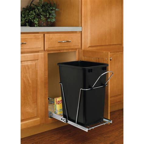 under cabinet trash bins under counter garbage cans hafele builtin double pullout