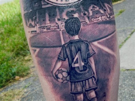 wigan athletic fans  tattoo depicts  love
