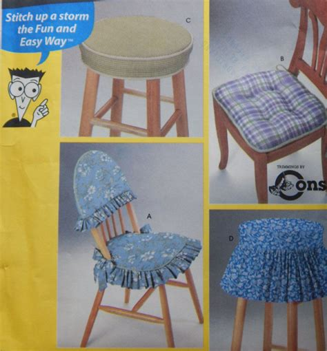 Upholstery For Dummies by Chair And Stool Covers Sewing Pattern Simplicity 9984
