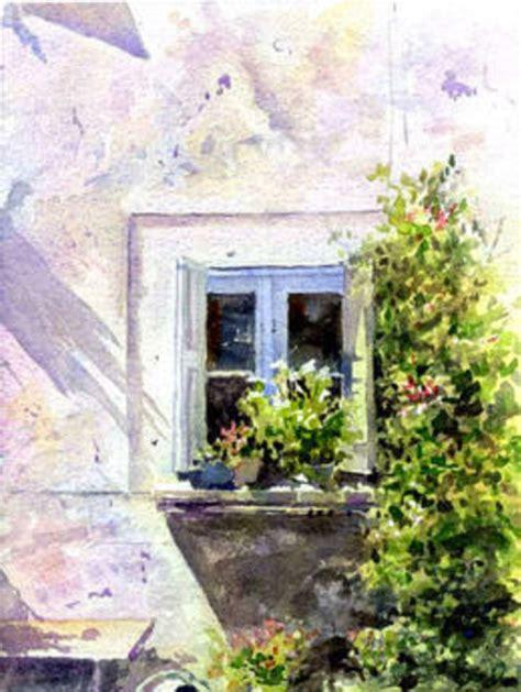 Fenster Bemalen Mit Wasserfarbe by Blue Window Watercolorpainting