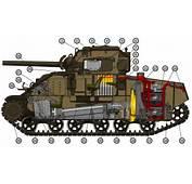 M4A4 Cutaway&187 De Malyszkz Vista Interior Del Carro Combate