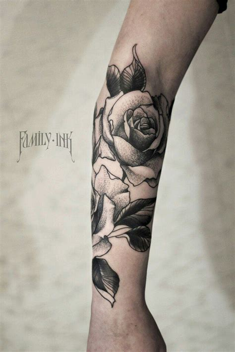 rose tattoo arm pinterest roses tattoo forearm by family ink family ink tattoo