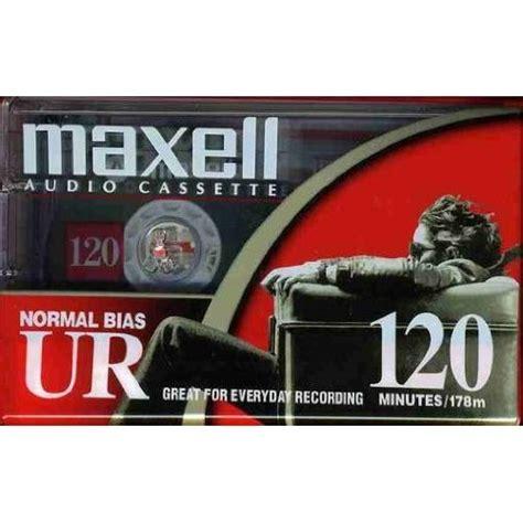 maxell audio cassette maxell ur 120 blank audio cassette 1 pack 108010