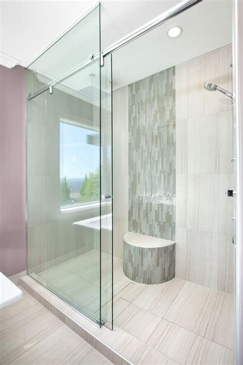 Cabana Bathroom Ideas Vertical Shower Tile Bathroom Transitional With Hidden