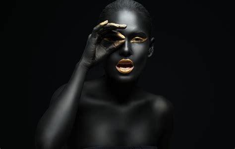 gold wallpaper models обои makeup gold black model картинки на рабочий стол