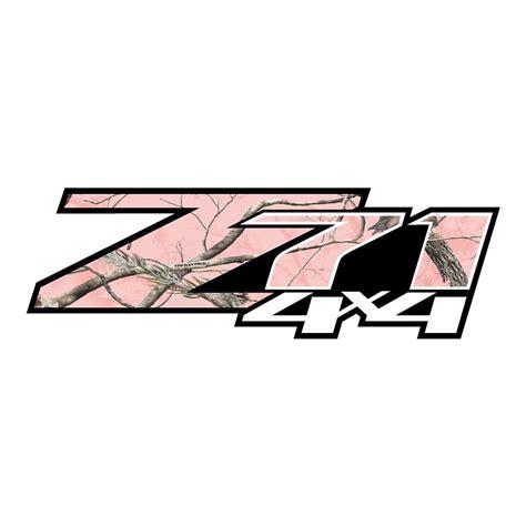 Pink Z71 Sticker z71 pink camo stickers chevy stickers truck decals