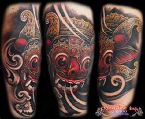 uv tattoo bali black tattoo design the barong mask tattoos black