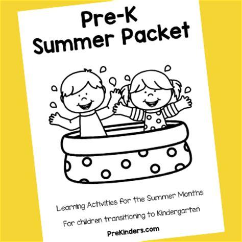 pre k summer packet prekinders