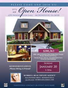 real estate open house flyer template microsoft
