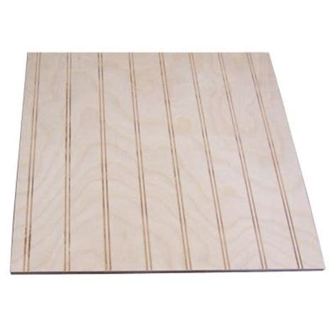 Unfinished Wainscoting Panels 32 Sq Ft Unfinished Birch Paneling With 1 1 2 In