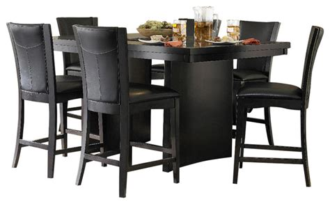 pub height dining room sets homelegance daisy 7 piece counter height dining room set