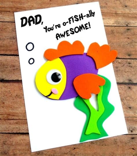 printable fathers day cards for to make diy s day fish card with printable template