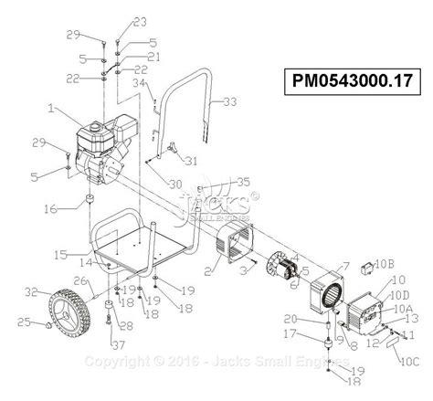 coleman powermate 5000 parts diagram powermate formerly coleman pc0543000 17 parts diagram for