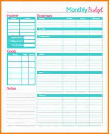 Resume Sample by 4 Monthly Budget Planner Worksheet Monthly Bills Template